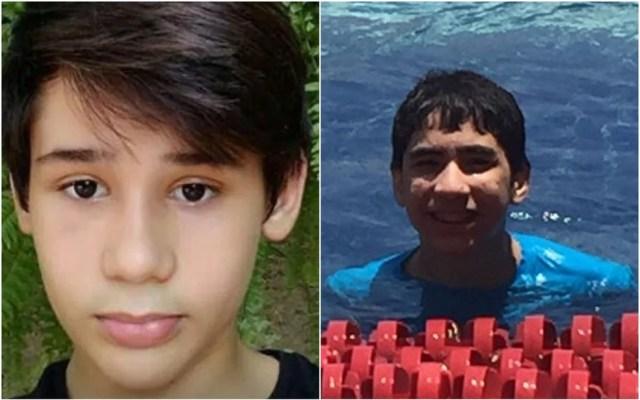 João Pedro Calembo (à esquerda) e João Vitor Gomes foram mortos a tiros por colega (Foto: Reprodução/TV Anhanguera)