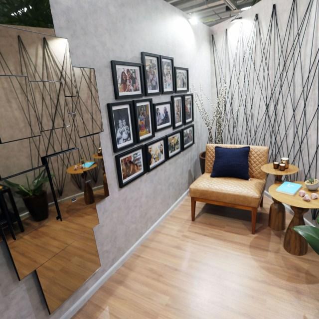 Mostra Lar Center de Arquitetura e Design Universal – Ambiente Convívio e relaxamento – Profissionais Elisa Prado e Raquel Barbosa