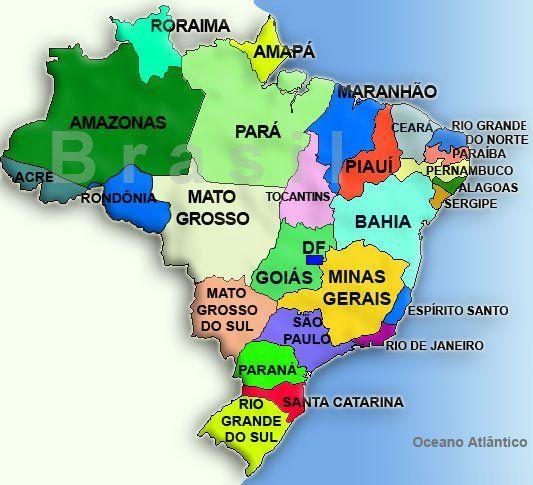 Imagem dos estados do Brasil