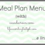 Meal Plan Menu #2