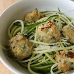 chicken + zucchini meatballs #sundaysupper