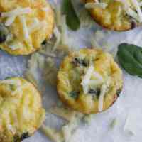 Sausage, Spinach, and Cheese Egg Cups [low carb, meal prep]