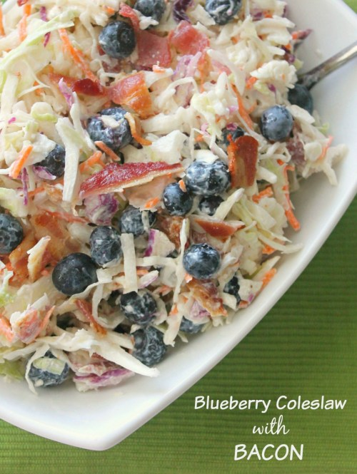 blueberry coleslaw  +  bacon
