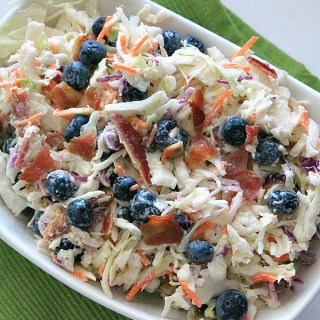 blueberry coleslaw with bacon