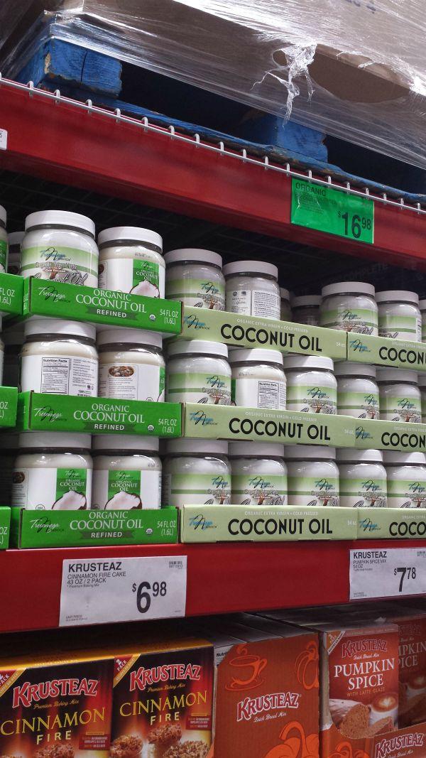Sam's Club coconut oil