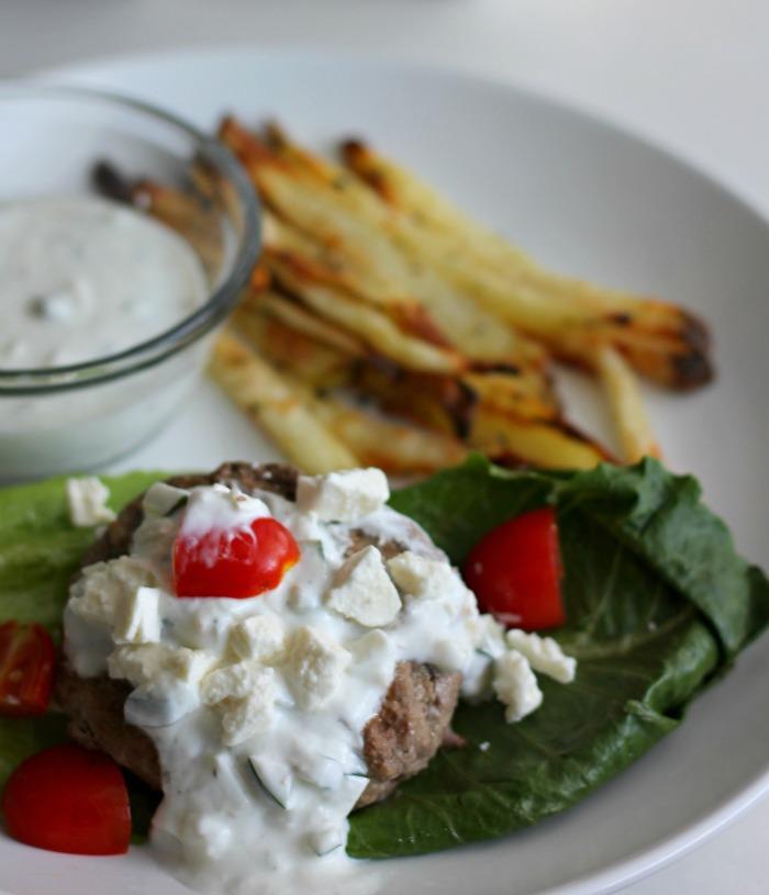 Gyro Burger Lettuce Wraps