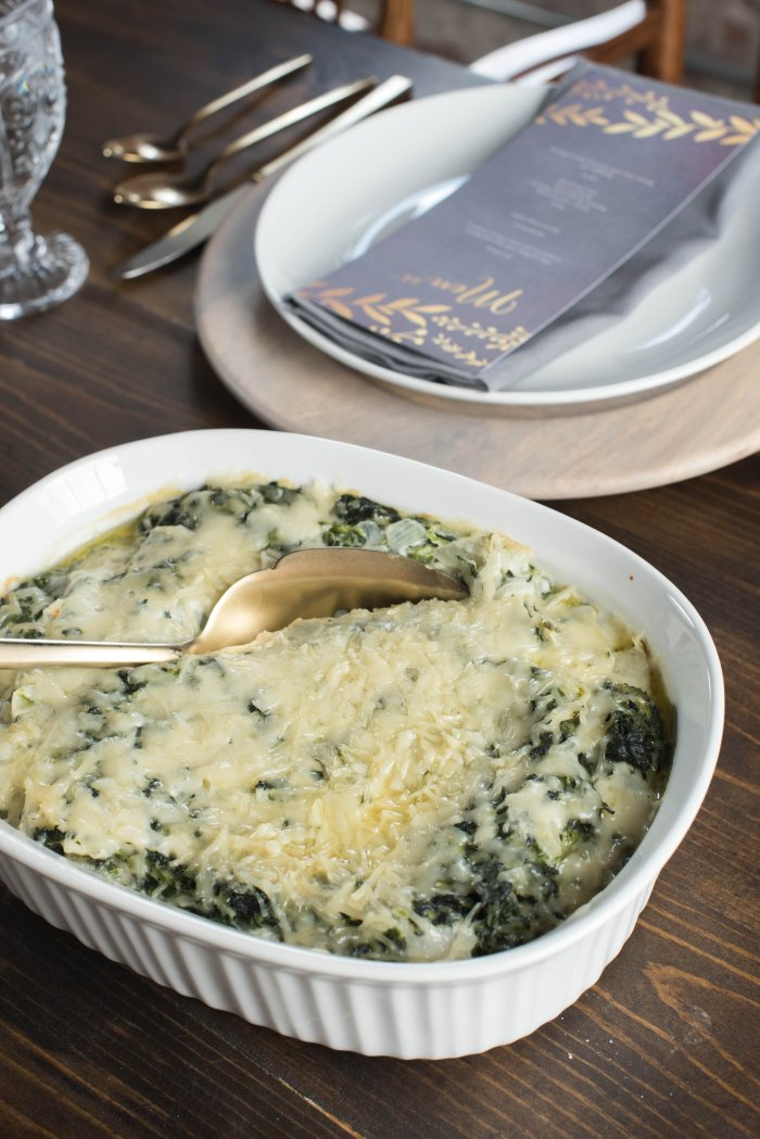 Spinach Gratin for Thanksgiving Dinner! View More: http://carolineevan.pass.us/friendsgiving