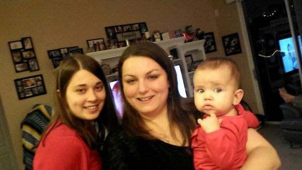 cousins on christmas eve! (lauren marie, nichole marie, and belina marie)