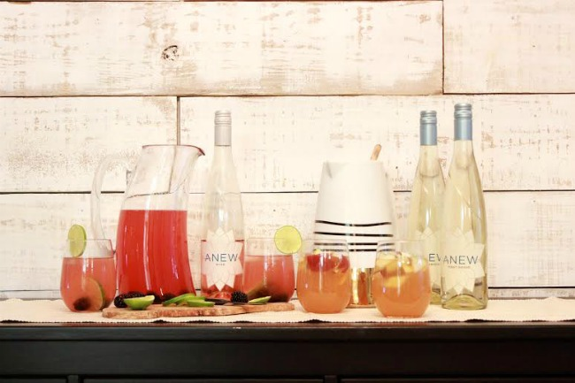 cocktail party with anew wines