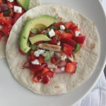 Chicken Fajitas with Strawberry-Jalapeno Salsa #SundaySupper #FLStrawberry