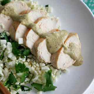 Grilled Chicken with Poblano Cream Sauce