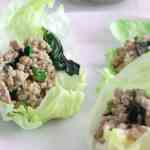Thai Basil Chicken Lettuce Wraps #SundaySupper