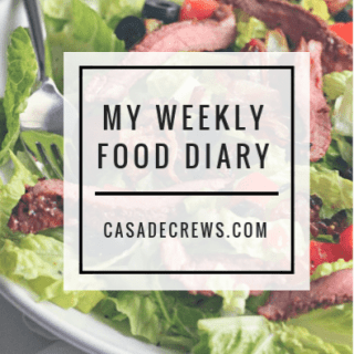 my weekly food diary: week two