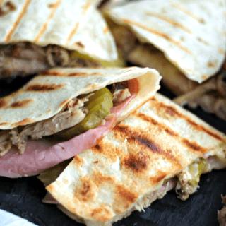 Cuban Sandwich Quesadillas