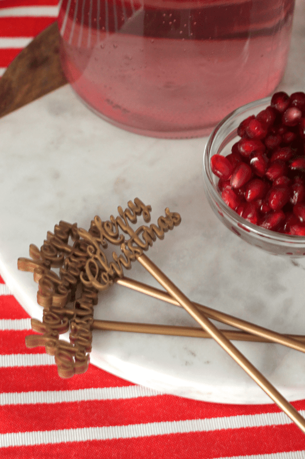 add festive cocktail stirrers for an extra fun little party touch