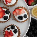 Mini Almond Tarts with Whipped Cream + Berries (Dairy-Free)