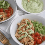 Buffalo Chicken Quinoa Bowls