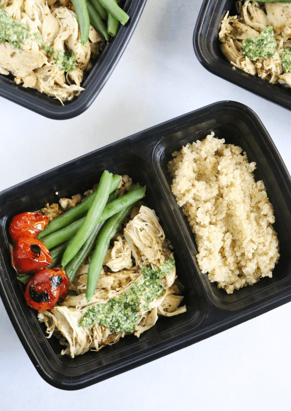 Pesto Chicken Quinoa Bowls Meal Prep Casa De Crews