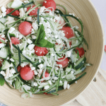 Watermelon Salad with Mint and Feta Cheese