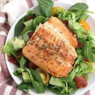 salmon BLT salad