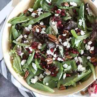 Winter Salad with Fig Jam Balsamic Vinaigrette