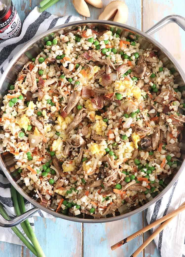 Whole30 Cauliflower Chicken Fried Rice Keto Paleo Casa De Crews
