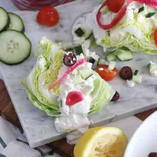 Greek Wedge Salad with a Tzatziki Vinaigrette
