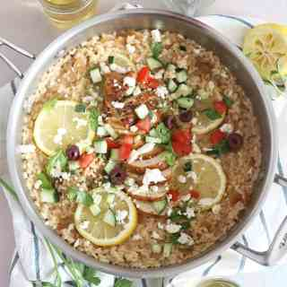 One-Pot Greek Chicken Risotto