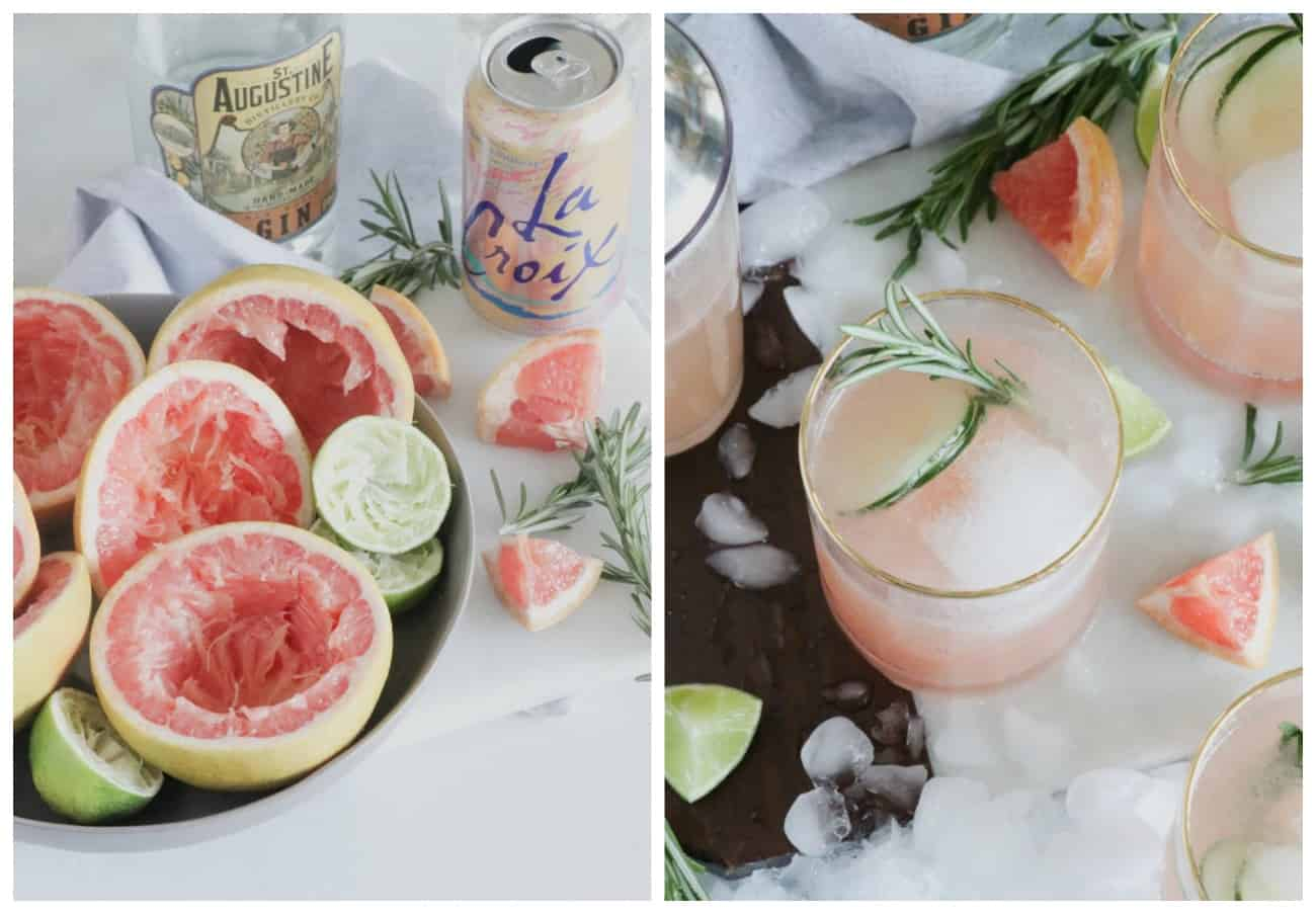 how to make grapefruit gin fizzes