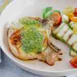 pesto grilled pork chops [low-carb, paleo, whole 30]