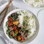 Whole 30 Beef Stir Fry in the Slow Cooker [paleo, low carb, sugar-free]