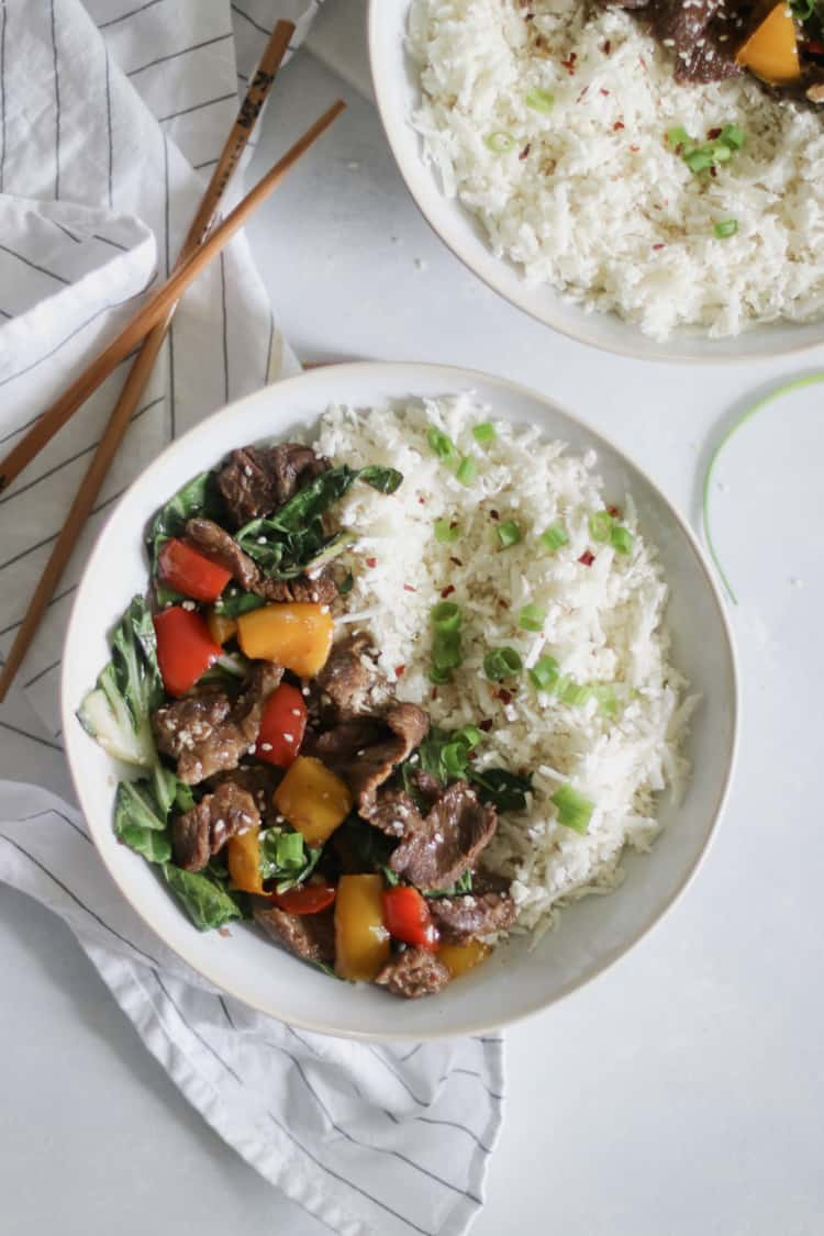 Whole 30 Beef Stir Fry in the Slow Cooker