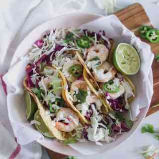 chili lime cilantro shrimp tacos