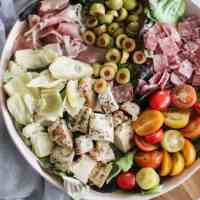 Chopped Chicken Antipasto Salad [low-carb, whole 30, paleo]