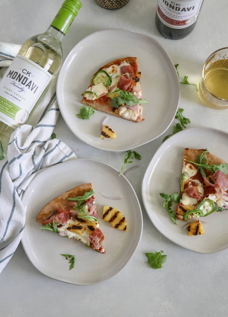 Grilled Pineapple Pizza with Prosciutto and Jalapenos