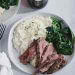 roasted garlic parmesan mashed cauliflower [low carb]