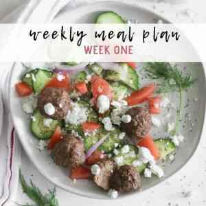 weekly meal plan with shopping list