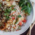 whole30 cauliflower shrimp fried rice