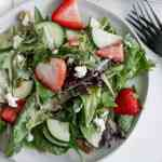 strawberry spring salad with goat cheese [low-carb]