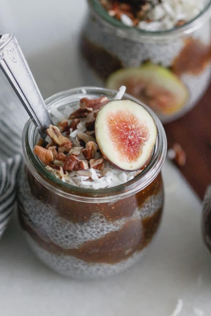Fig Jam Chia Seed Pudding
