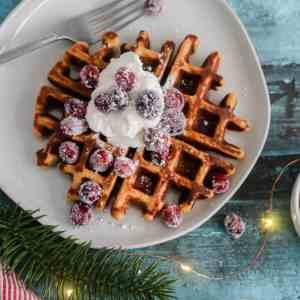 Grain-Free Gingerbread Waffles