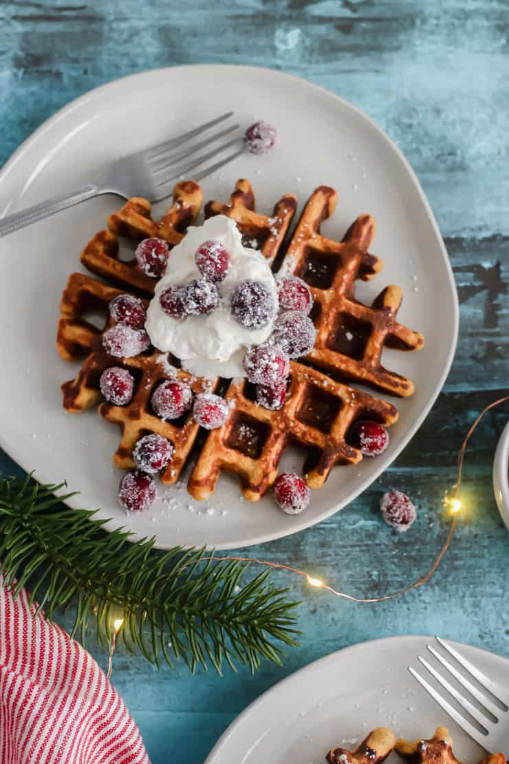 Grain-Free Gingerbread Waffles