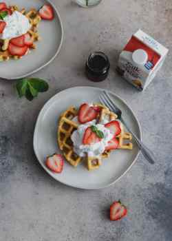 grain-free strawberry shortcake waffles