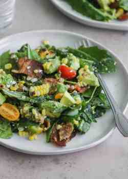 Chopped BLT Salad with Corn