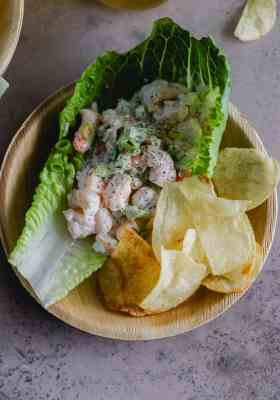 shrimp roll lettuce cups