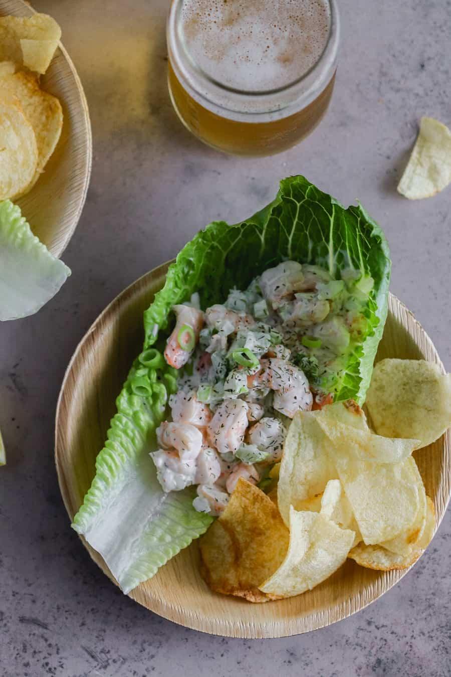 shrimp roll lettuce cups