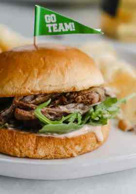 Pulled Lamb Sandwich with Chipotle Mayo
