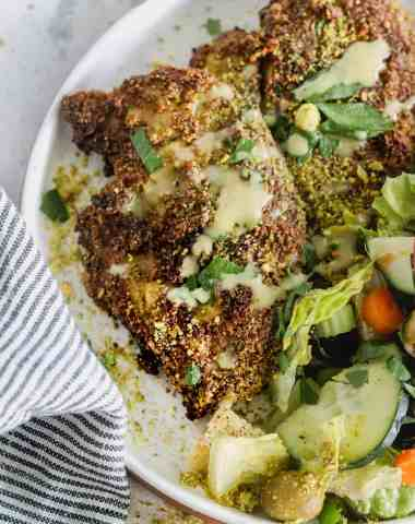 Air Fryer Pistachio Crusted Chicken
