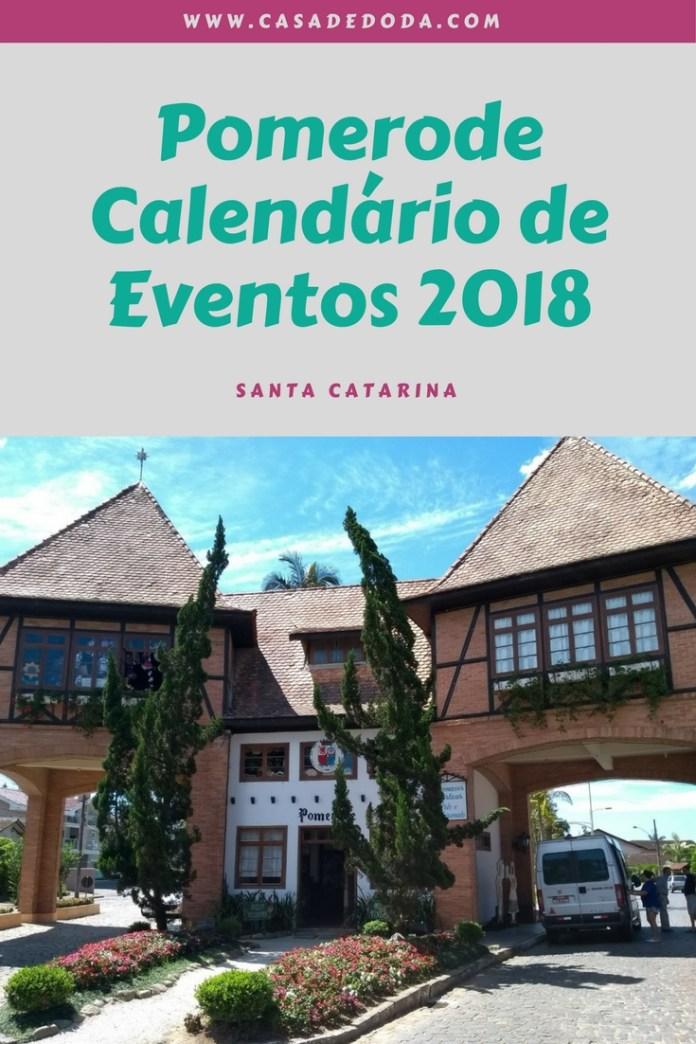 Pomerode Calendário de Eventos 2018