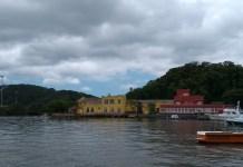 Museu Nacional do Mar visto da Baia Babitonga